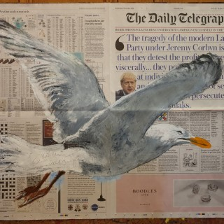 Oil on The Daily Telegraph • 6.XI.2019